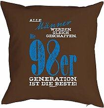 Geschenk zum Geburtstag Kissenbezug Männer ...98er Generation Geschenkidee zum 20. Geburtstag Polster zum 20. Geburtstag für 20-jähirge