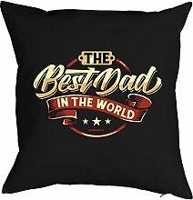 Geschenk zum Vatertag Kissen Polster The Best Dad