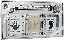 Geschenk zur Geburt und Taufe Baby Handabdruck