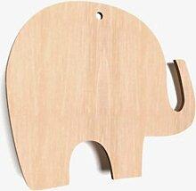 Geschenkanhänger aus Holz, Elefantenform,