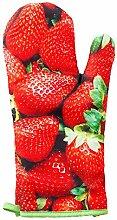 geschenkartikel-shopping Ofenhandschuh Handschuhe Erdbeer-Design Küchenhelfer Topflappen Küchenaccessoires