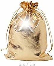 Geschenkbeutel 25 Stück Geschenksäckchen Gold 5
