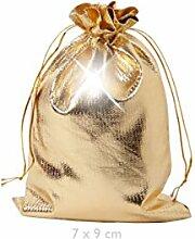 Geschenkbeutel 25 Stück Geschenksäckchen Gold 7