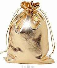 Geschenkbeutel Geschenksäckchen Gold