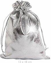 Geschenkbeutel Geschenksäckchen silber