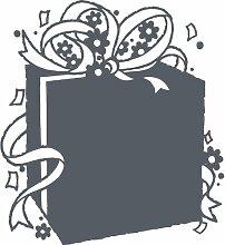 Geschenkbox, Größe 60 cm Breite, Farbe Dark Gray Geschenkbox Aufkleber, Geschenke, Fenster, Wand Aufkleber, Weihnachten, ThatVinylPlace