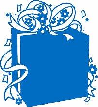 Geschenkbox, Größe 60 cm Breite, Farbe Medium Blue Geschenkbox Aufkleber, Geschenke, Fenster, Wand Aufkleber, Weihnachten, ThatVinylPlace