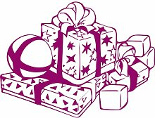 Geschenkbox, Größe 60 cm Breite, Farbe Raspberry Geschenkbox Aufkleber, Geschenke, Fenster, Wand Aufkleber, Weihnachten, ThatVinylPlace