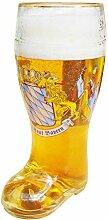Geschenkbox XXL Bierglas in Stiefel-Form Maßkrug
