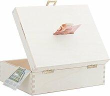 Geschenke 24: B Ware Geldkoffer Natur aus Holz -
