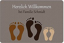 Geschenke 24 Fußmatte mit DREI Fußabdrücken in