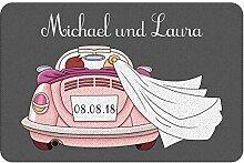 Geschenke 24 Fußmatte zur Hochzeit mit Automotiv