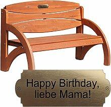 Geschenke 24 Gravierte Geburtstagsbank mit Lehne
