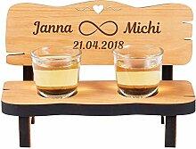 Geschenke 24 Hochzeitsbank Schnapsbank mit