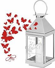 Geschenke 24: Laterne mit Schmetterlingen und