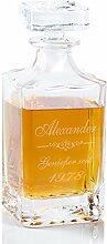 Geschenke 24 Whiskykaraffe Luxus aus Kristallglas - personalisiertes Whiskygeschenk - eine originelle Geschenkidee mit Gravur für Männer
