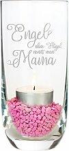 Geschenke 24 Windlicht - Engel ohne Flügel nennt man Mama - dekoratives Teelicht zum Muttertag - schöne Geschenkidee für Mütter (Villeroy & Boch)
