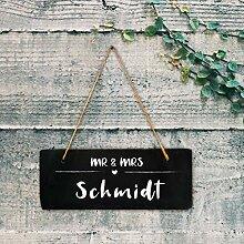 """Türschild Schild Schieferschild an Kordel /""""HOME/"""" Wandschild aus Schiefer"""