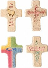 Geschenkedirekt Handkreuz,Buche,6 x 4cm,'Gott
