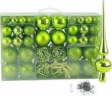 Geschenkestadl 100 Weihnachtskugel Grün mit