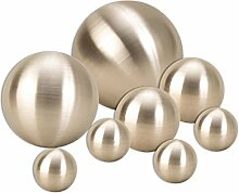 Geschenkestadl 8 er Set Dekokugel in Silber matt