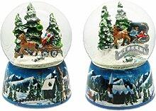 Geschenkestadl Spieluhr Schneekugel mit Bewegung
