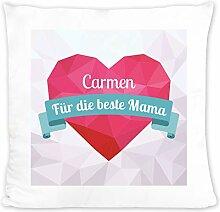 Geschenkidee.de Kissen mit Namen für Mama |
