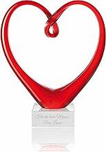 Geschenkidee.de Leonardo Glas-Herz mit Gravur |