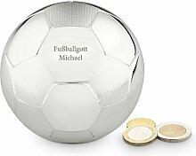 Geschenkidee.de Spardose Fußball mit Gravur