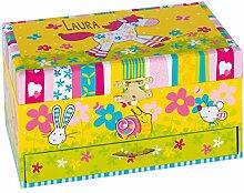 Geschenkidee.de Spieluhr mit Pony und Wunsch-Namen