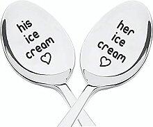 Geschenkidee für Paare | Eislöffel für Sie und