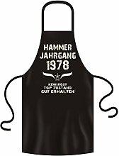 Geschenkidee Geburtstagsgeschenk Koch-Schürze Grill-Schürze Hammer Jahrgang 1978 Zum 39. Geburtstag Frauen Männer Küchenschürze Farbe:schwarz