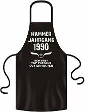 Geschenkidee Geburtstagsgeschenk Koch-Schürze Grill-Schürze Hammer Jahrgang 1990 Zum 27. Geburtstag Frauen Männer Küchenschürze Farbe:schwarz