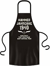 Geschenkidee Grillschürze Kochschürze Hammer Jahrgang 1940 zum 78. Geburtstag Frauen Männer Einheitsgröße Farbe:schwarz