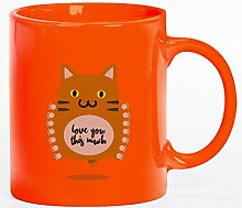 Geschenkidee Kaffeetasse Kaffeebecher mit Love You