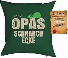 Geschenkidee Opa Kissen mit Füllung Geschenk