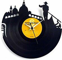 Geschenkidee Uhr Venedig (Venice) Schwarz Vinyluse