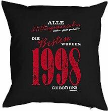 Geschenkidee zum 18 Geburtstag Kissen Lieblingsmenschen die Besten wurden 1998 geboren Polster zum 18. Geburtstag für 18-jähirge Dekokissen