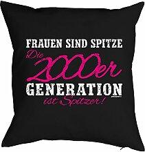 Geschenkidee zum 18 Geburtstag Kissenbezug 2000er Generation ist spitzer! Geschenk zum Geburtstag Polster zum 18. Geburtstag für 18-jähirge