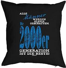 Geschenkidee zum 18 Geburtstag Kissenbezug Männer ...2000er Generation Geschenk zum Geburtstag Polster zum 18. Geburtstag für 18-jähirge