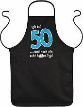 Geschenkidee zum 50. Geburtstag Schürze Ich bin 50 und ein echt heißer Typ! Geschenk zum 50. Geburtstag 50 Jahre Gebur
