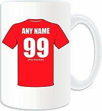Geschenkmitteilungsfeld–Großer Becher Leyton Orient (Fußball Club Design Thema, weiß)–beliebigen Namen/Botschaft auf Ihrem Tasse Einzigartige–Die 'Orient OS
