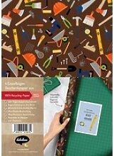 Geschenkpapier-Set: Werkzeuge/ Handwerker (für