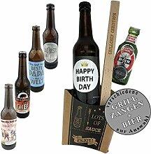 Geschenkset 4-TLG. Bier zum auswählen und