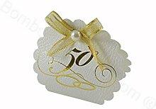 Geschenkverpackung Jubiläum 50 Jahre weiß, 10