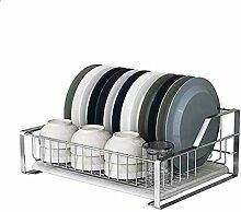 Geschirr-Abtropfgestell aus Edelstahl mit
