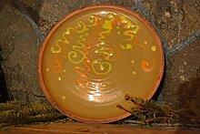 Geschirr bunt handmade Teller modern mit Bemalung