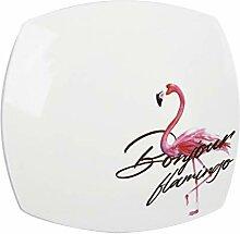 Geschirr Elegante rosa Keramik-Abendessen Teller