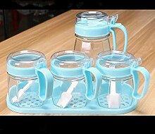 Geschirr Gewürzgläser Gewürzflasche Set