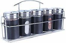 Geschirr Glas Gewürzflasche Set Farbtupfer